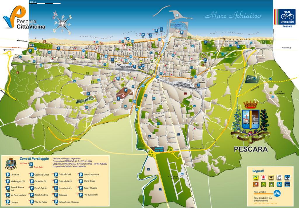 Abruzzo oggi pescara mappa parcheggi