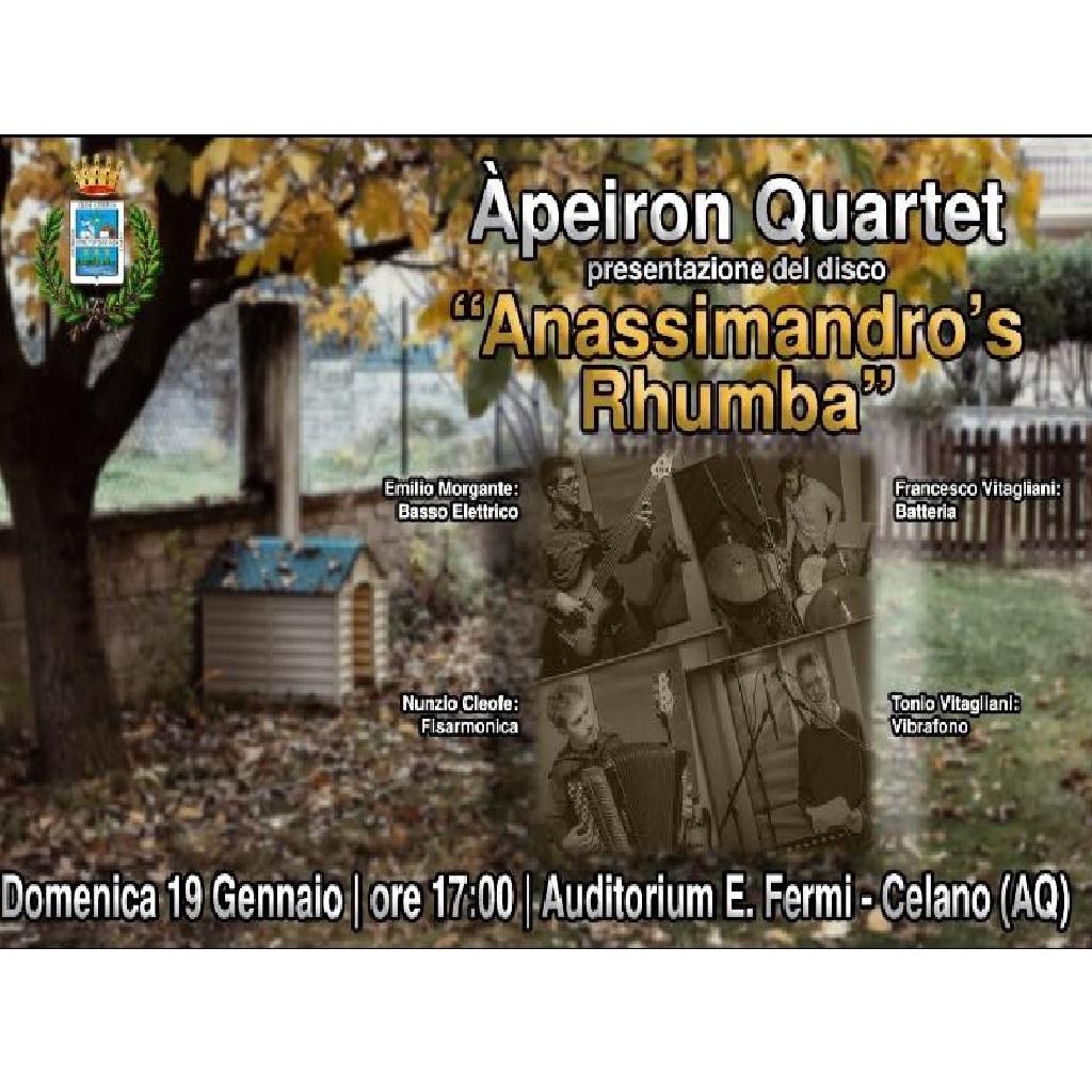 "Àpeiron Quartet - presentazione di ""Anassimandro's rhumba"" all'Auditorium E. Fermi a Celano (Aq) foto"
