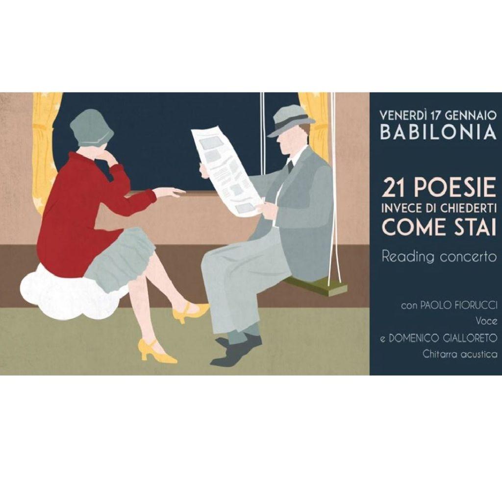 21 poesie invece di chiederti come stai al Babilonia a Pescara foto