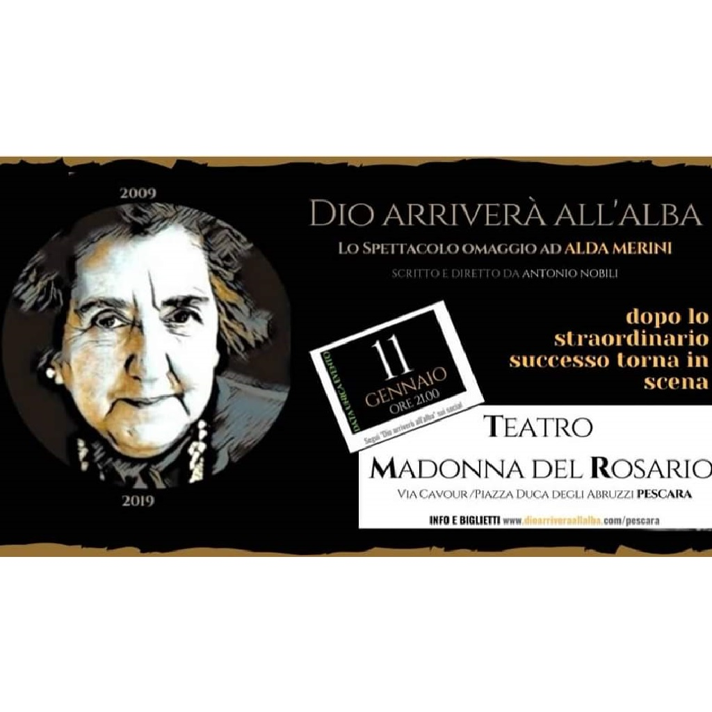 Alda Merini a Pescara Dio arriverà all'alba al Teatro Madonna del Rosario foto