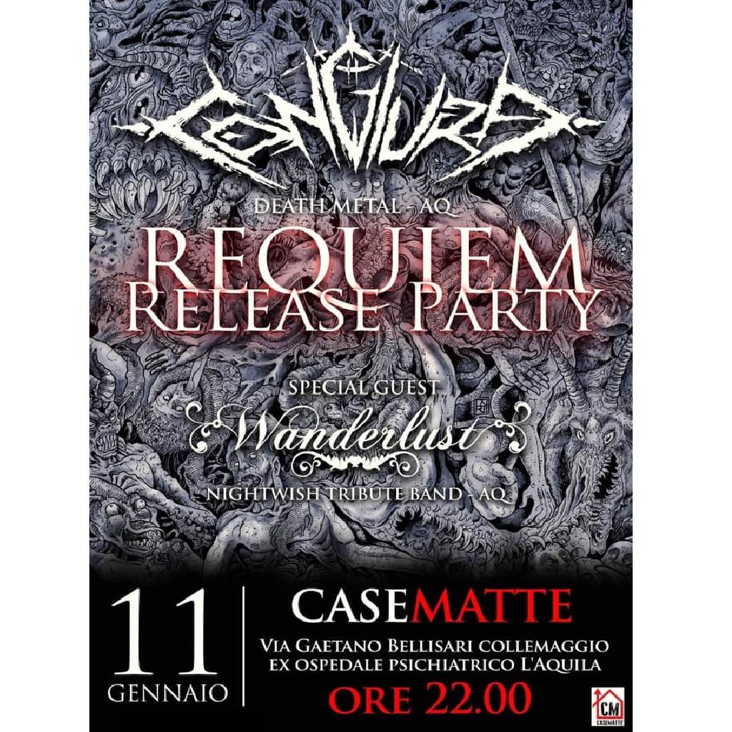 Congiura - Requiem release party al CaseMatte a L'Aquila locandina