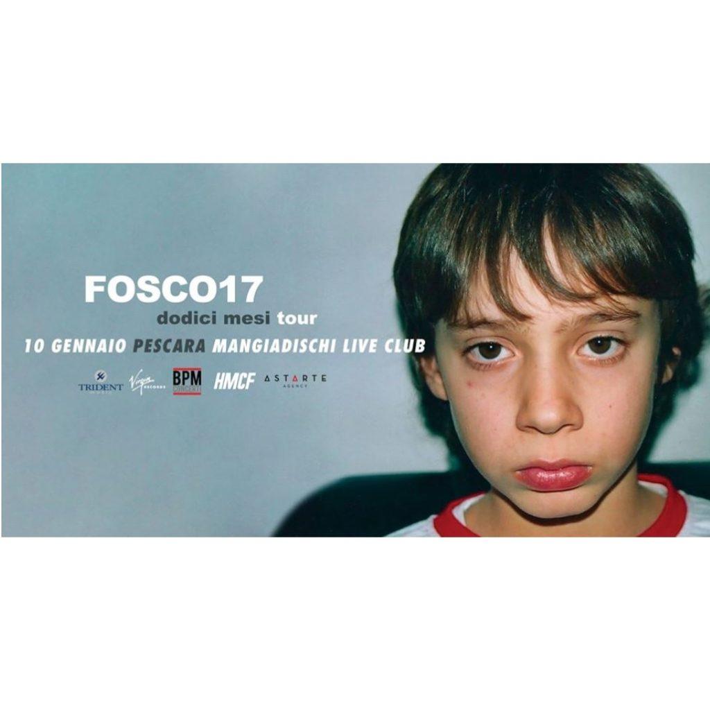 Fosco17 al Mangiadischi Live Club locandina