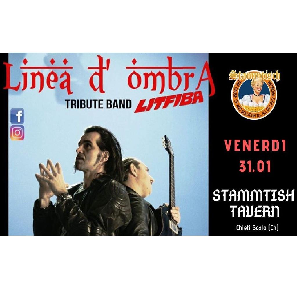 Linea D'Ombra Litfiba Tribute allo Stammtisch Tavern a Chieti Scalo locandina