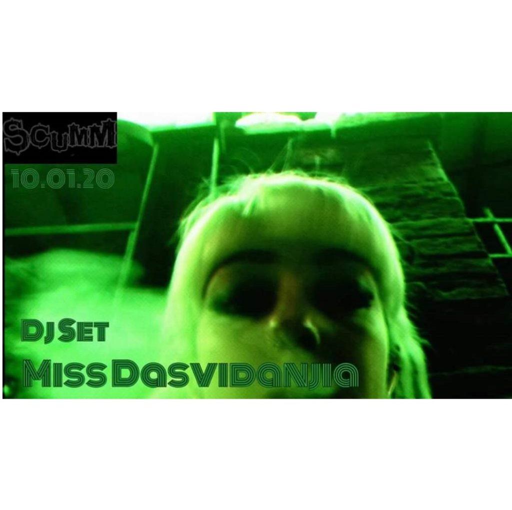 Miss Dasvidanjia +Bloody Hell Dj Set allo Scumm locandina