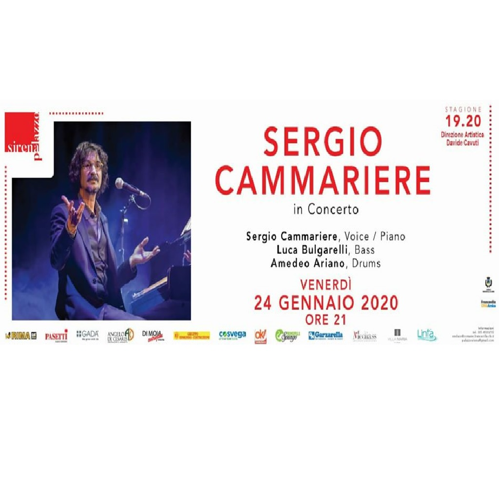 Sergio Cammariere a Palazzo Sirena a Francavilla al Mare locandina