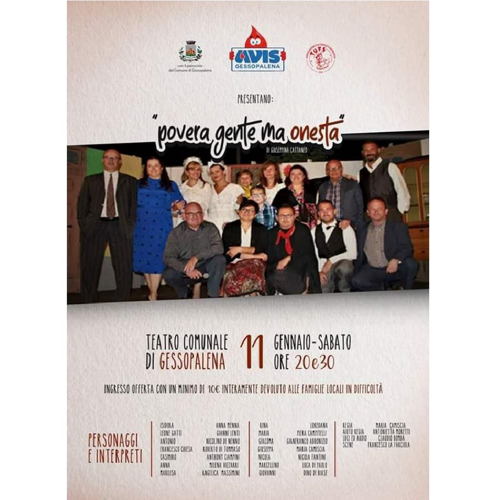 Teatro Solidale in Povera Gente Ma Onesta al Teatro Finamore di Gessopalena foto