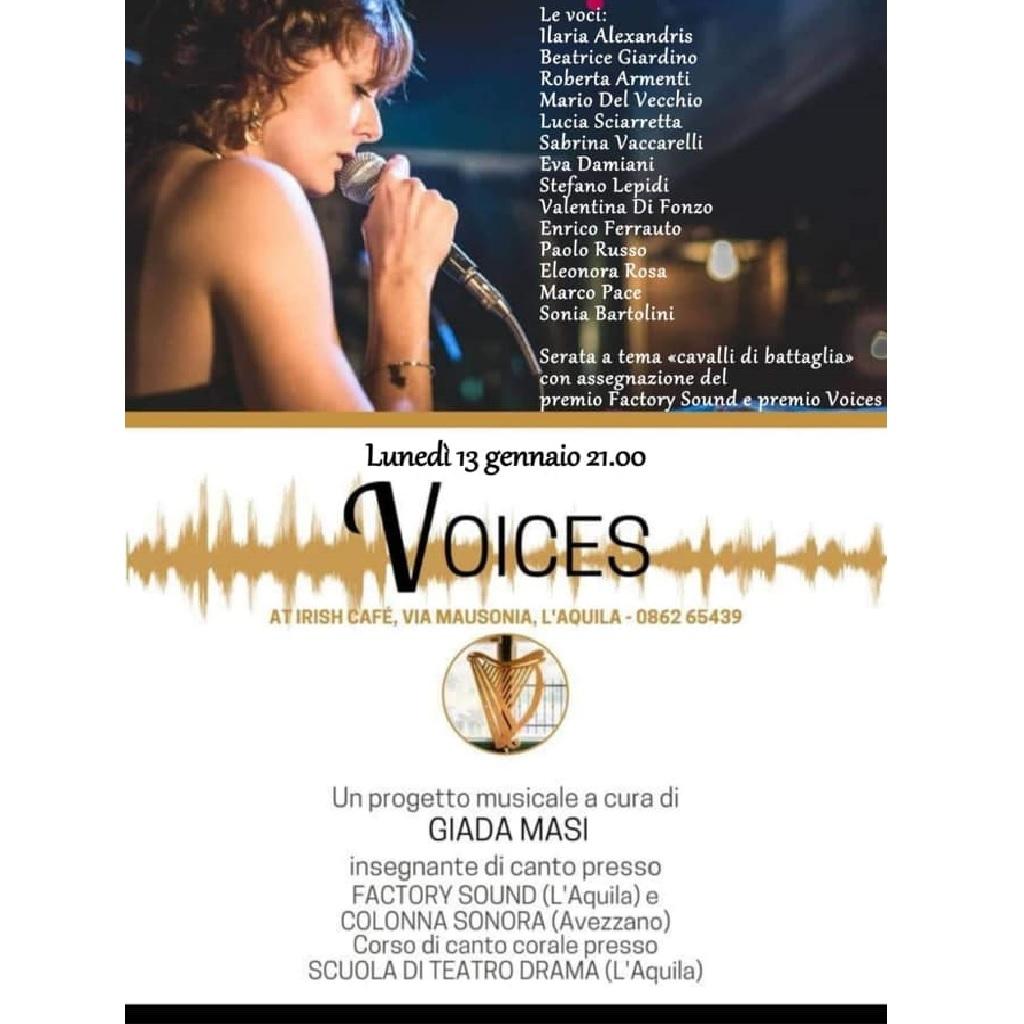Voices all'Irish Cafè a L'Aquila locandina