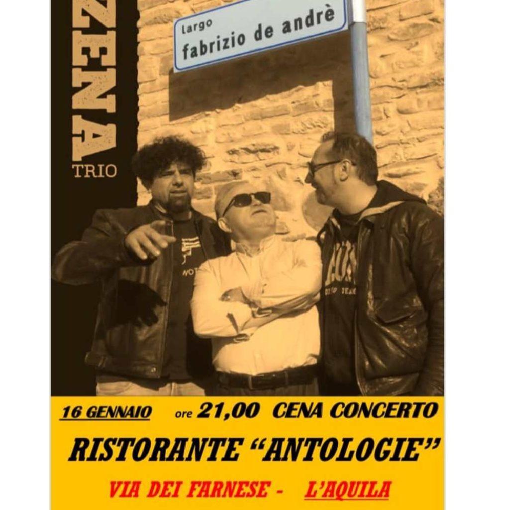 Zena Trio al Ristorante Antologie a L'Aquila locandina