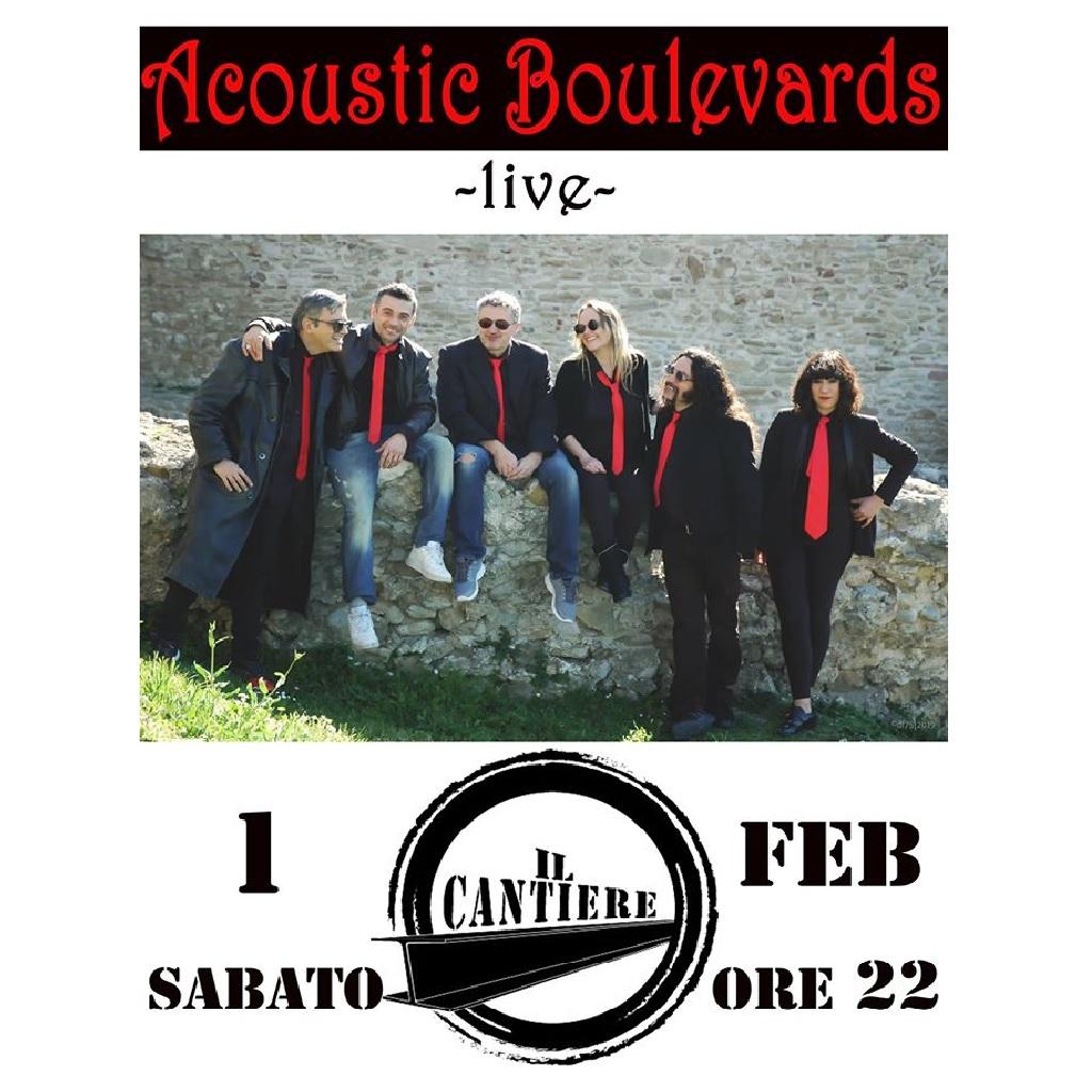 Acoustic Boulevards live a Il Cantiere a Pescara locandina