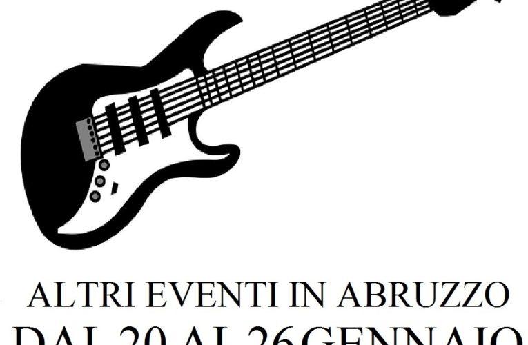 Eventi in Abruzzo gennaio 2020 dal 20 al 26