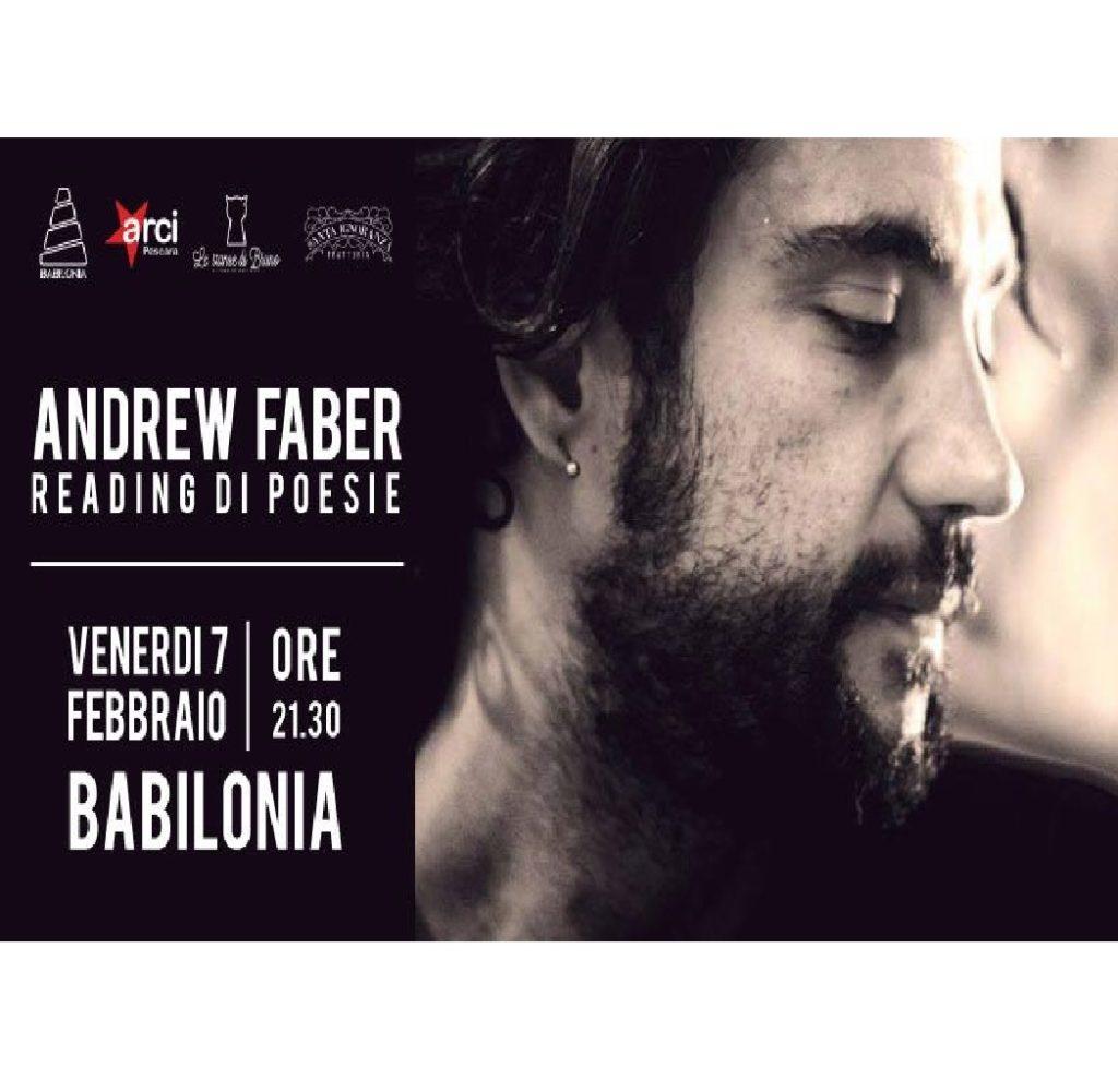 Andrew Faber – Reading di poesie a Babilonia a Pescara foto