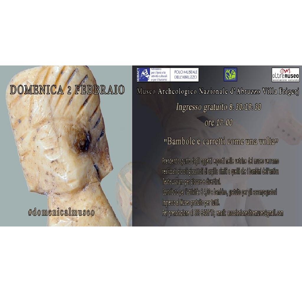 Bambole e carretti come una volta al Museo Archeologico Nazionale d'Abruzzo - Villa Frigerj a Chieti foto