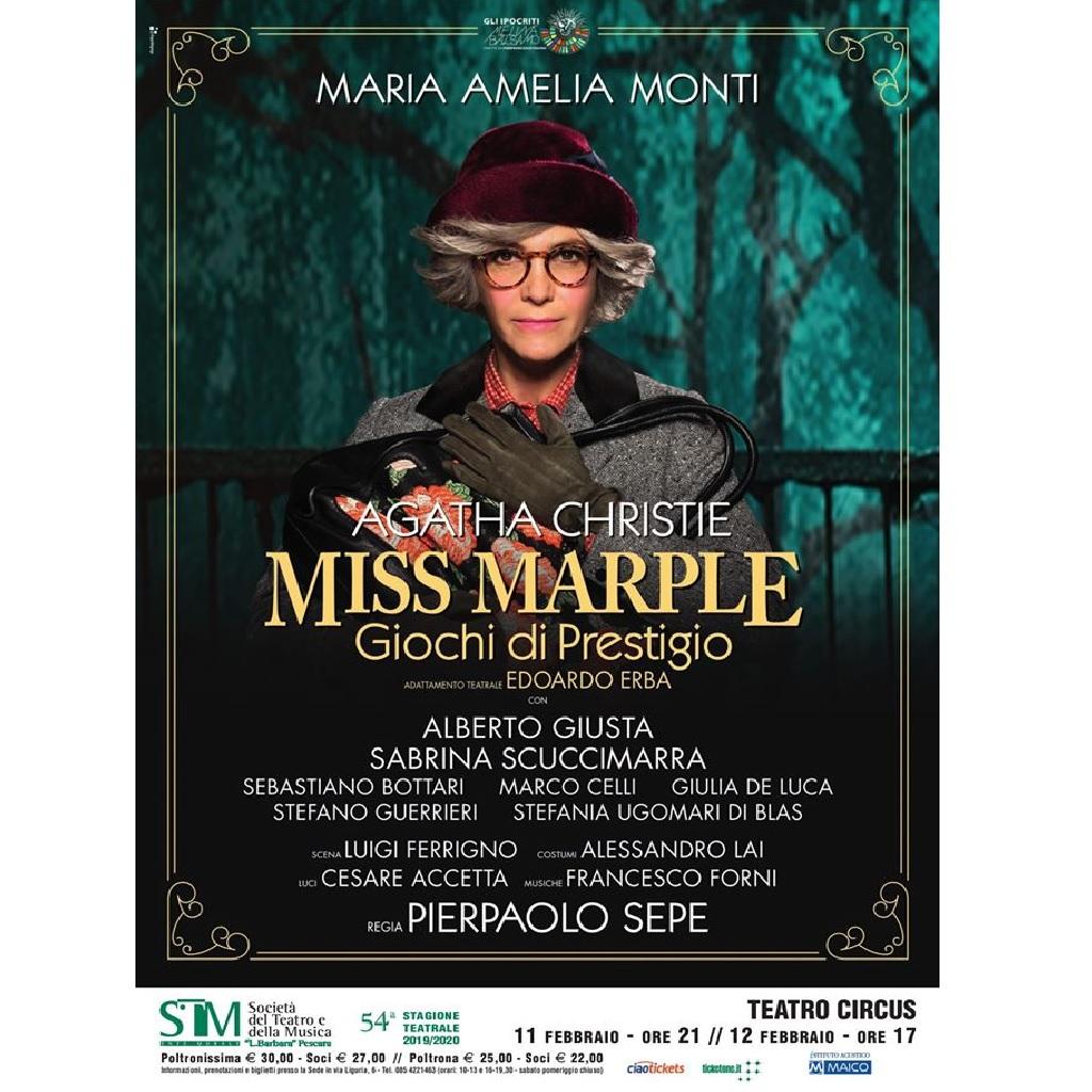 Miss Marple giochi di prestigio di Agatha Christie al Teatro Circus a Pescara foto