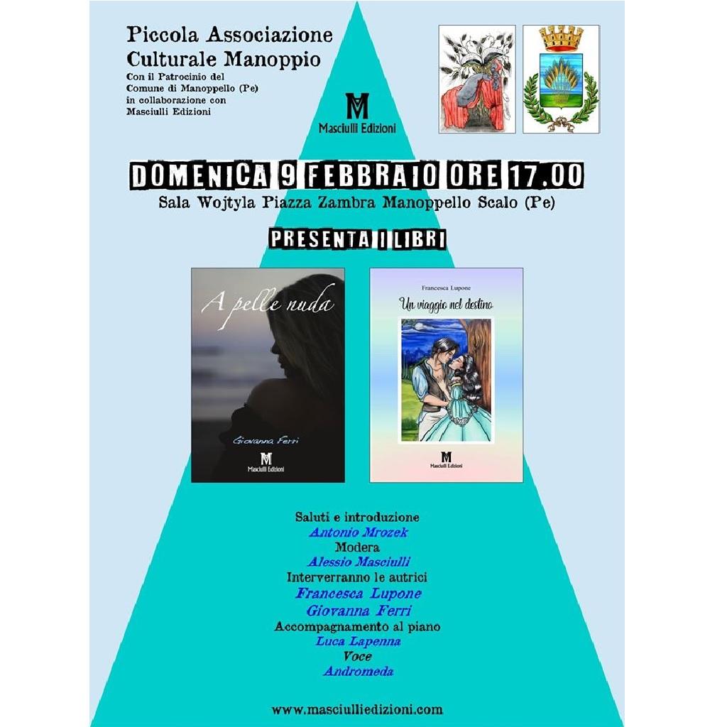 Presentazione dei libri di Giovanna Ferri & Francesca Lupone presso la Sala Vojtyla a Manoppello (Pe) foto