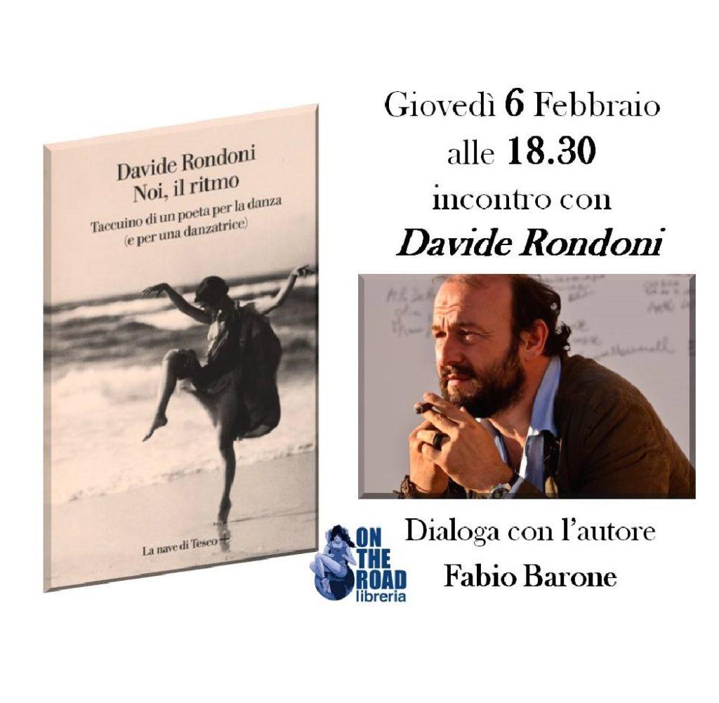 Rondoni presenta il libro Noi, il ritmo alla Libreria On The Road a Montesilvano (Pe) foto