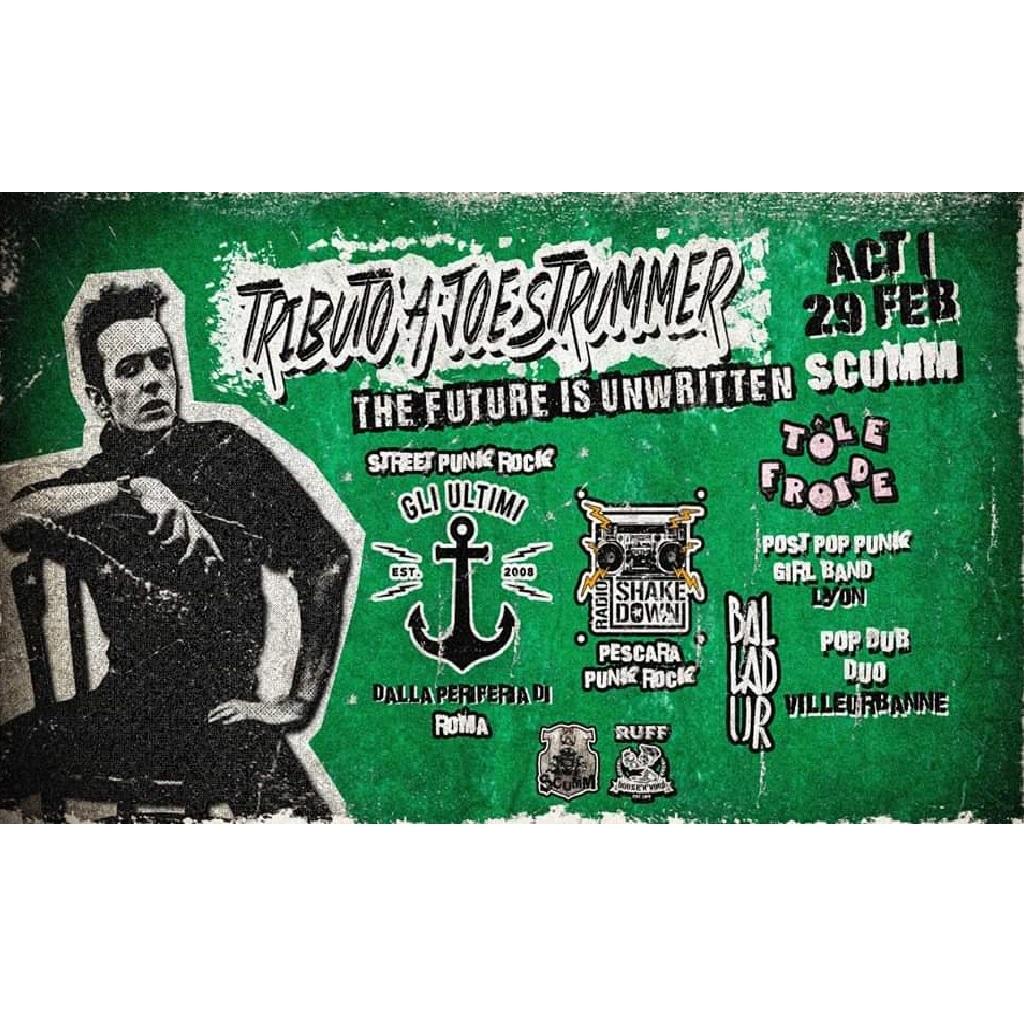 Tributo a Joe Strummer allo Scumm a Pescara locandina