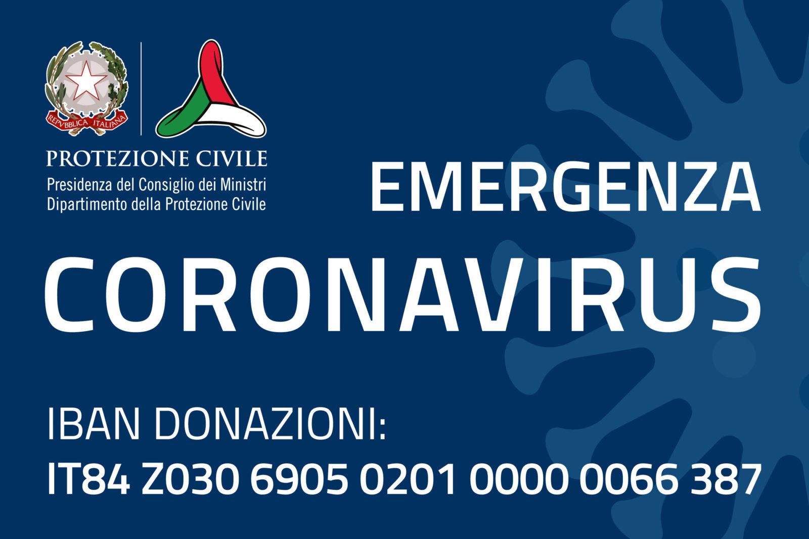 protezione civile emergenza coronavirus
