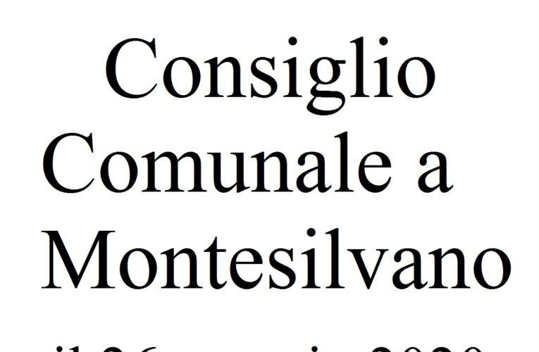 Consiglio Comunale Montesilvano 26 maggio 2020