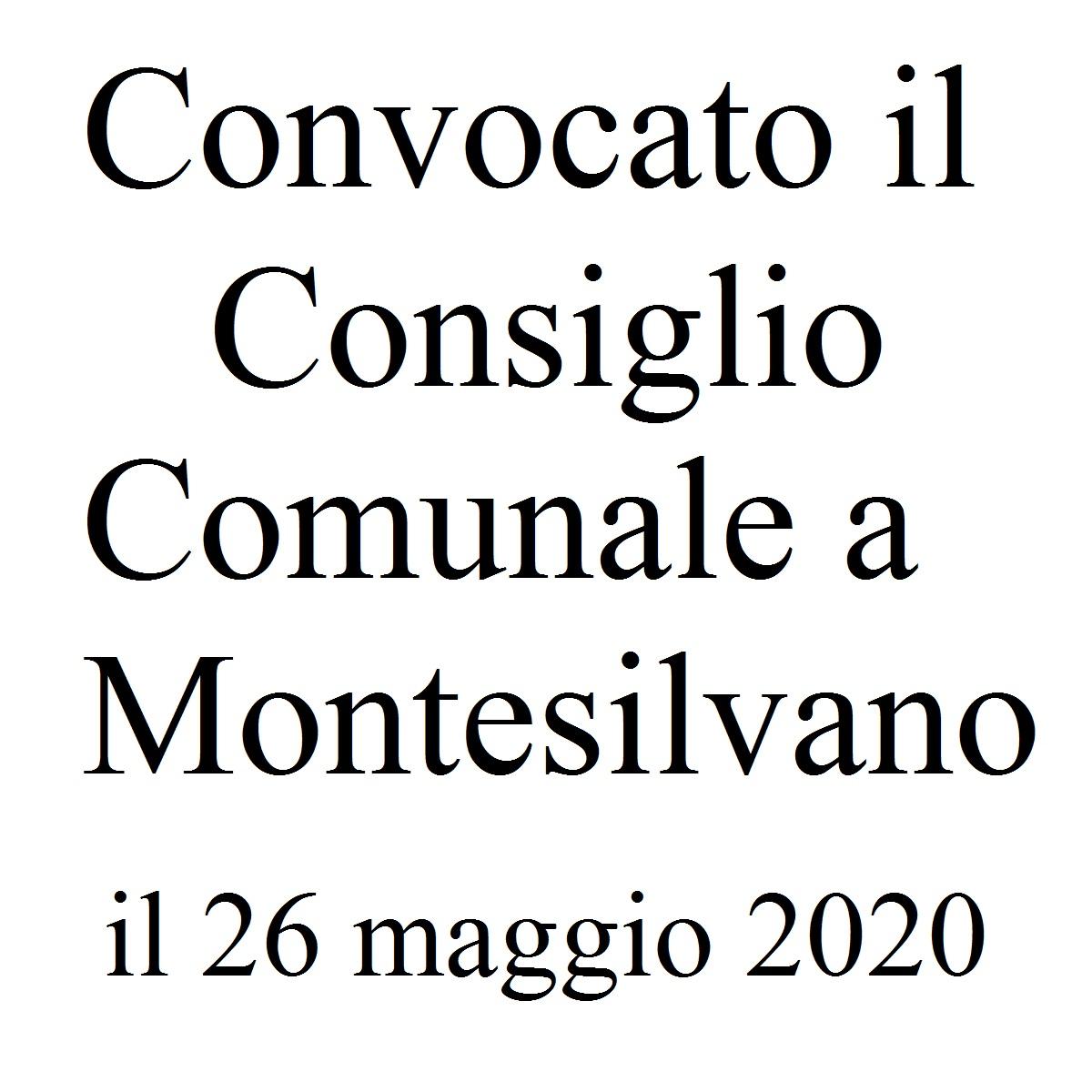 Consiglio Comunale Montesilvano 26 maggio 2020 foto