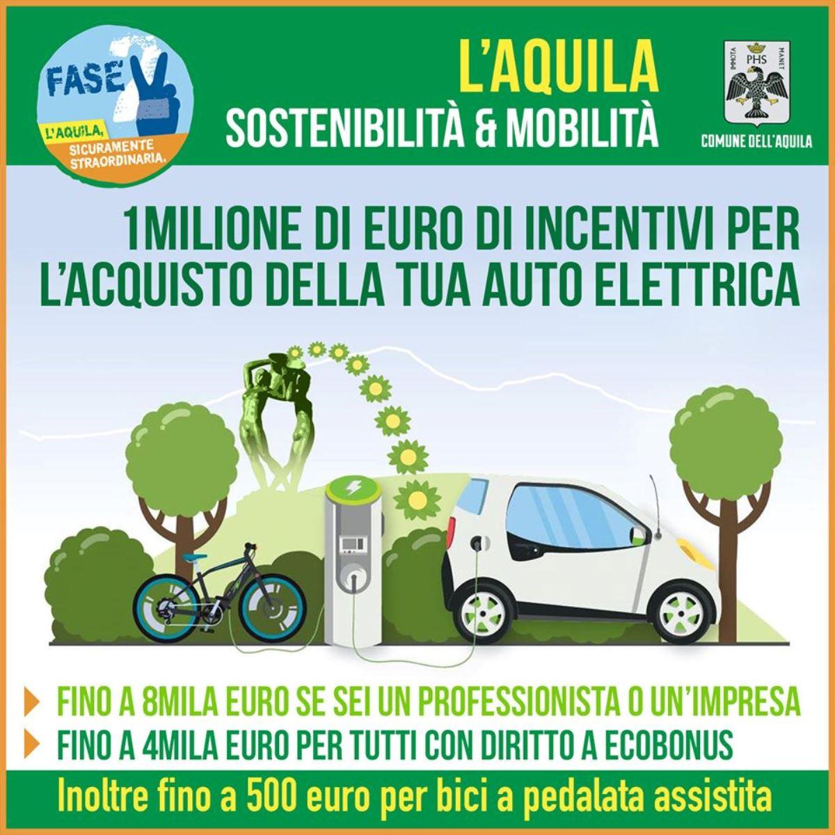 L'Aquila incentivi per acquisto auto elettriche foto