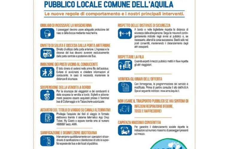 L'Aquila nuove norme su autobus da oggi 4 maggio 2020