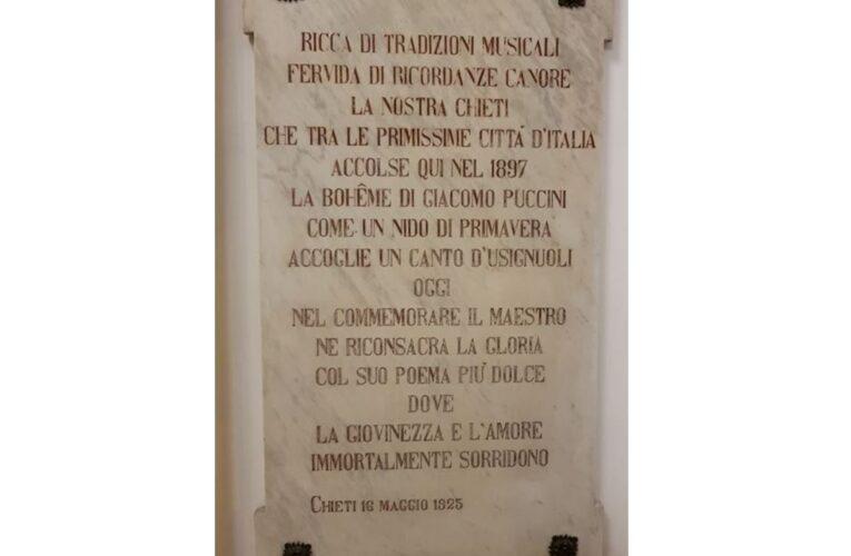Teatro Marrucino: 95 anni fa una lapide per Puccini