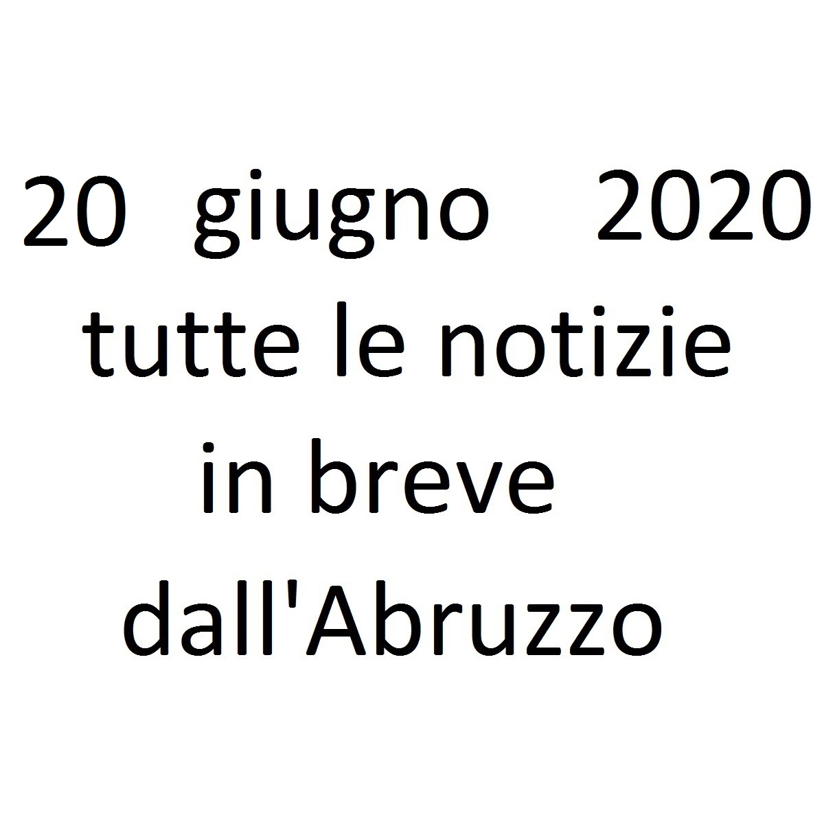 20 giugno 2020 notizie in breve foto