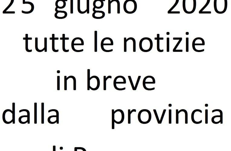 25 giugno 2020 notizie in breve Pescara