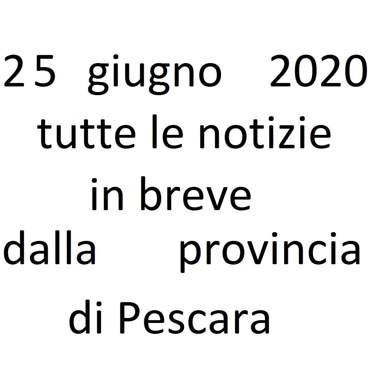 25 giugno 2020 notizie in breve dalla Provincia di Pescara foto