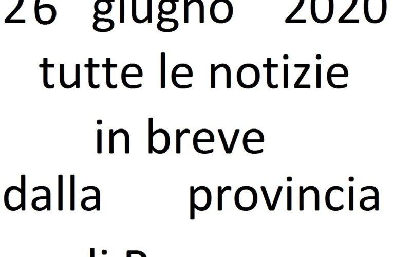 26 giugno 2020 notizie in breve Pescara