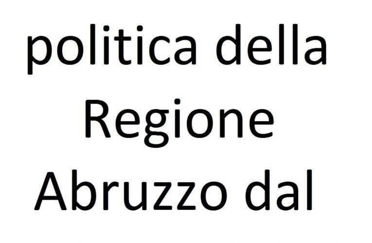 Settimana politica Regione Abruzzo dal 3 giugno 2020