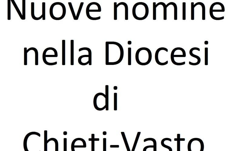 Nomine 30 maggio 2020 Diocesi di Chieti Vasto