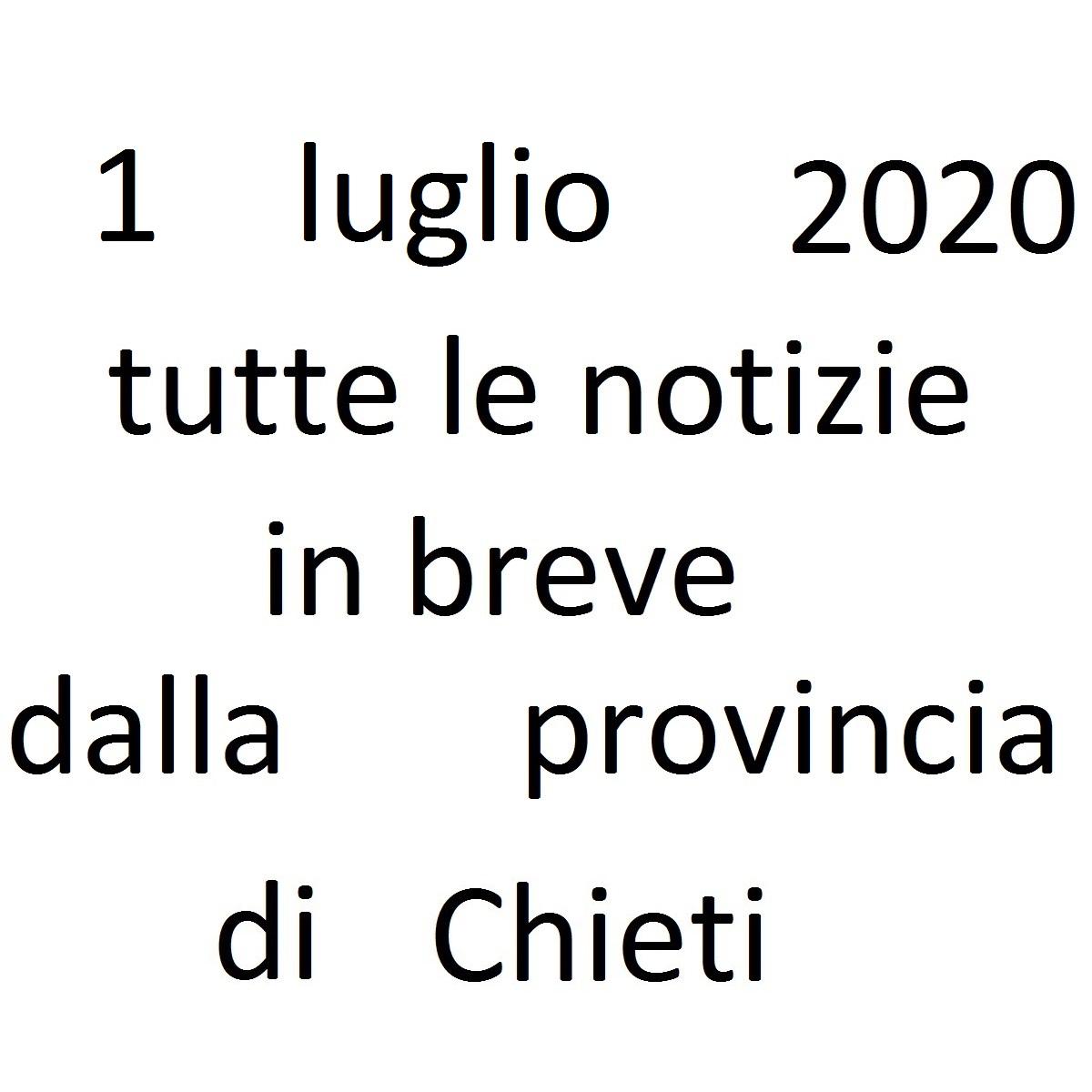 1 luglio 2020 notizie in breve dalla Provincia di Chieti foto
