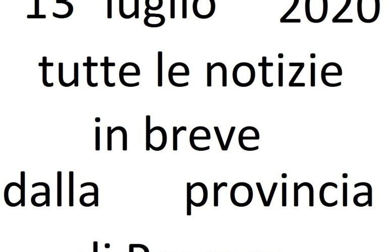 13 luglio 2020 notizie in breve Pescara