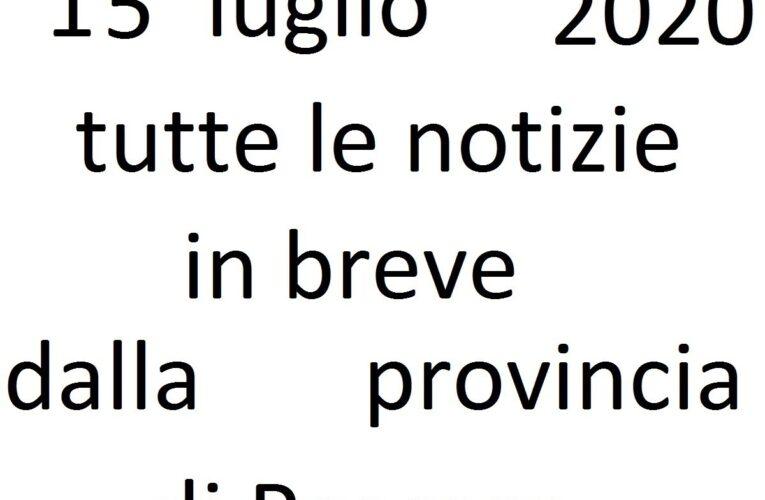 15 luglio 2020 notizie in breve Pescara