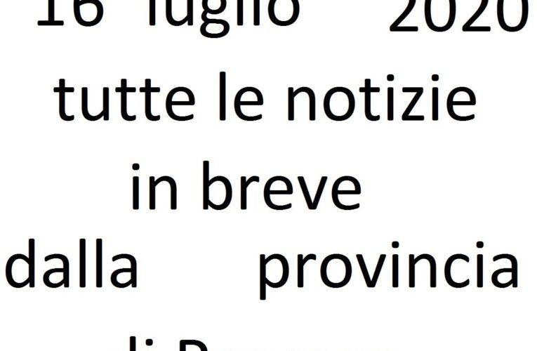 16 luglio 2020 notizie in breve Pescara