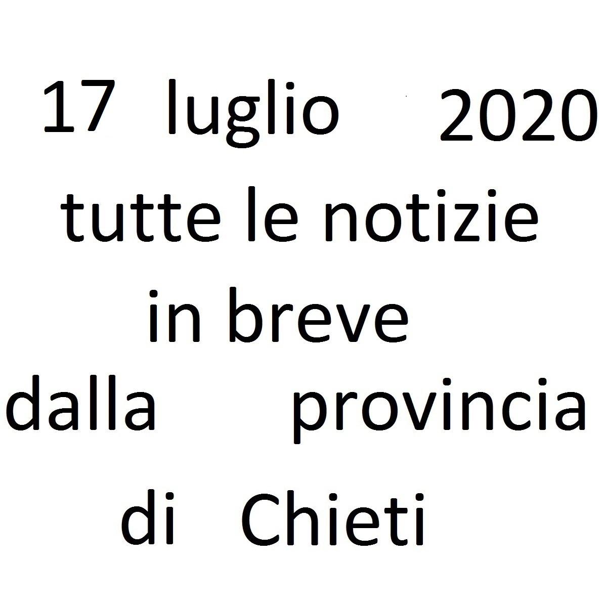 17 luglio 2020 notizie in breve dalla Provincia di Chieti foto