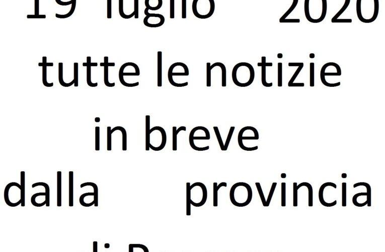 19 luglio 2020 notizie in breve Pescara