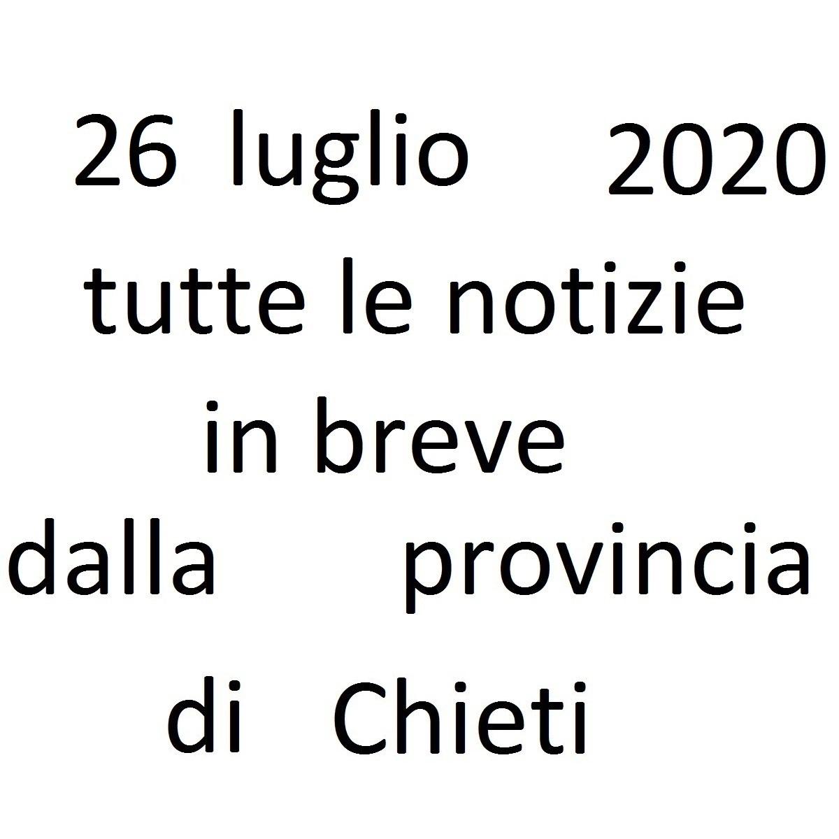 26 luglio 2020 notizie in breve dalla Provincia di Chieti foto