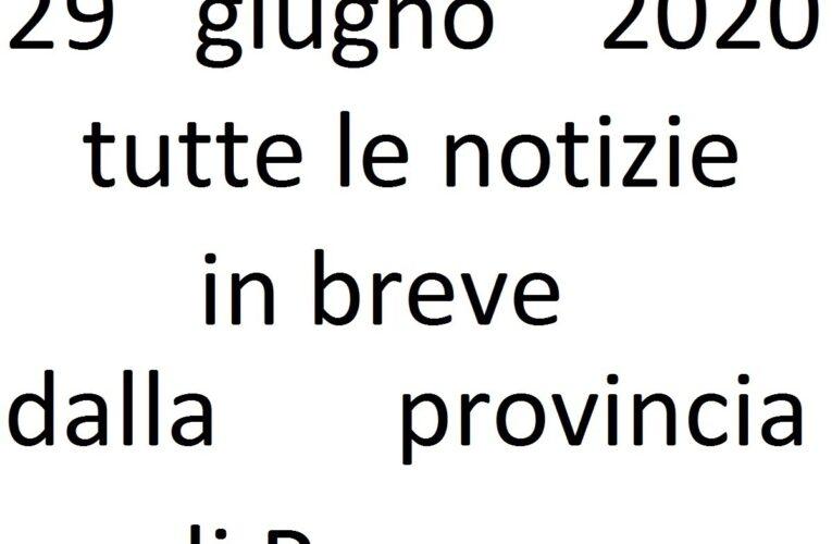 29 giugno 2020 notizie in breve Pescara