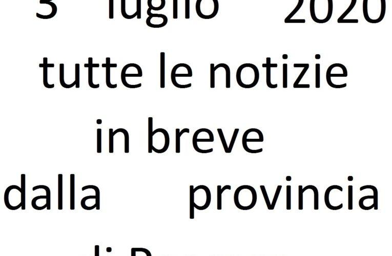 3 luglio 2020 notizie in breve Pescara