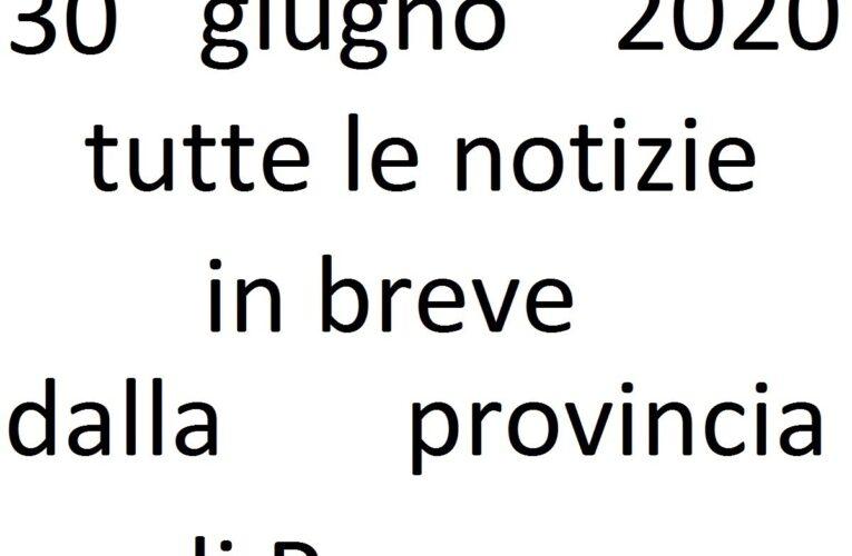 30 giugno 2020 notizie in breve Pescara