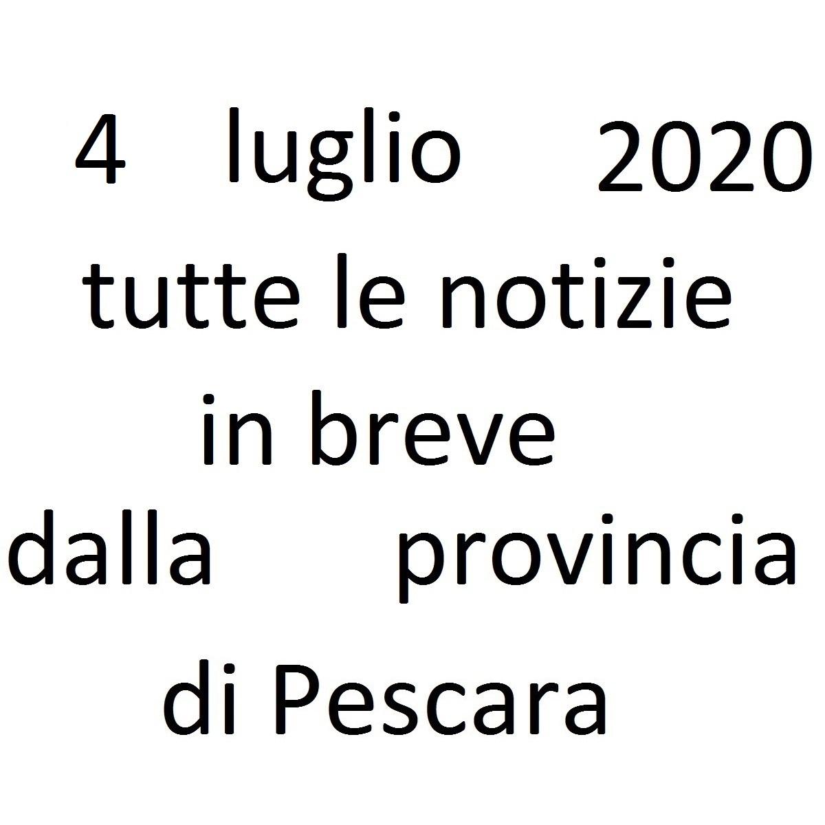 4 luglio 2020 notizie in breve dalla Provincia di Pescara foto