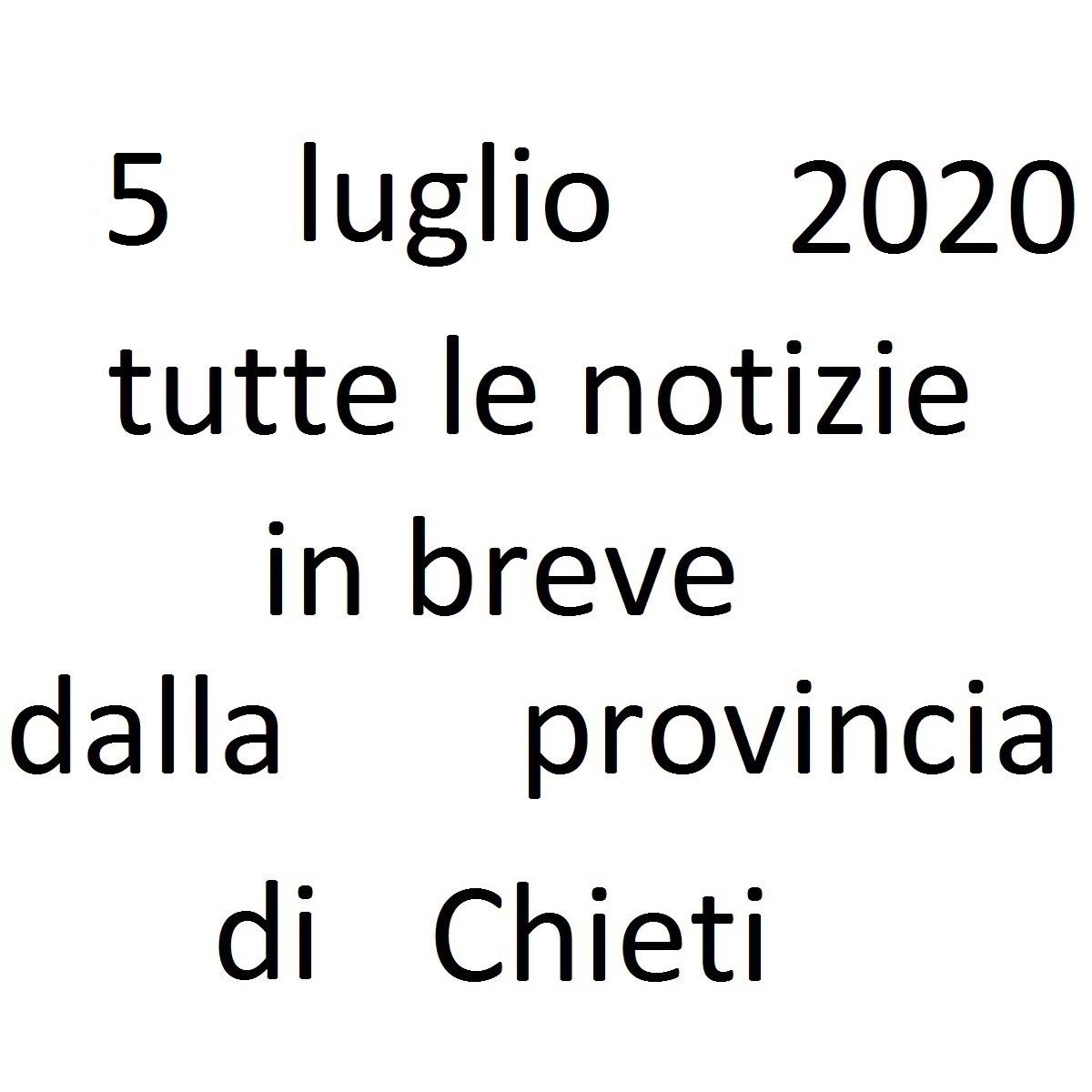 5 luglio 2020 notizie in breve dalla Provincia di Chieti foto