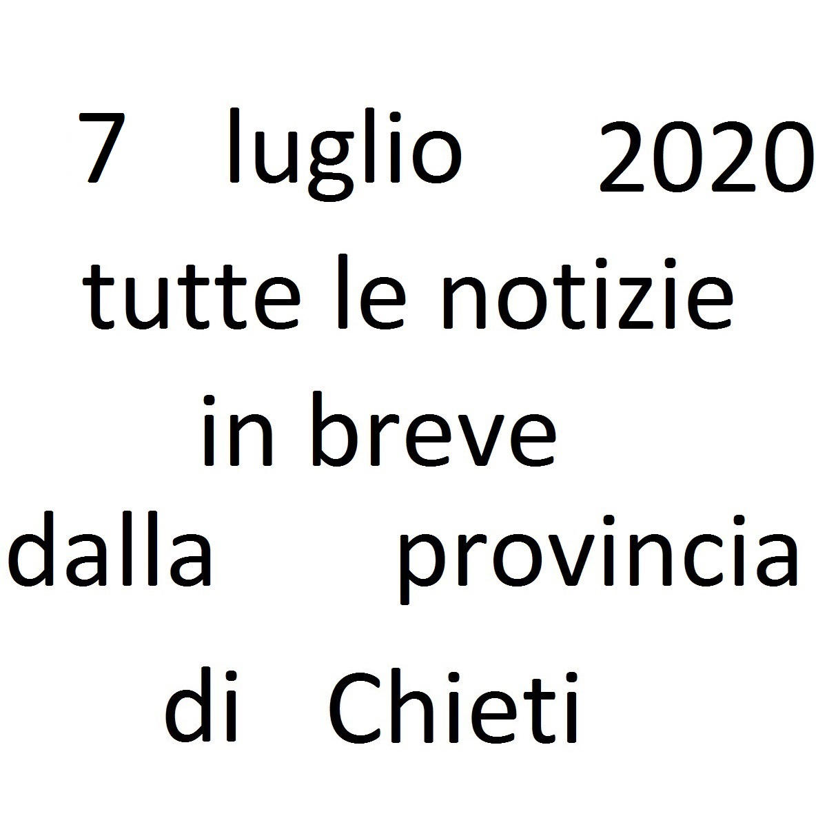 7 luglio 2020 notizie in breve dalla Provincia di Chieti foto