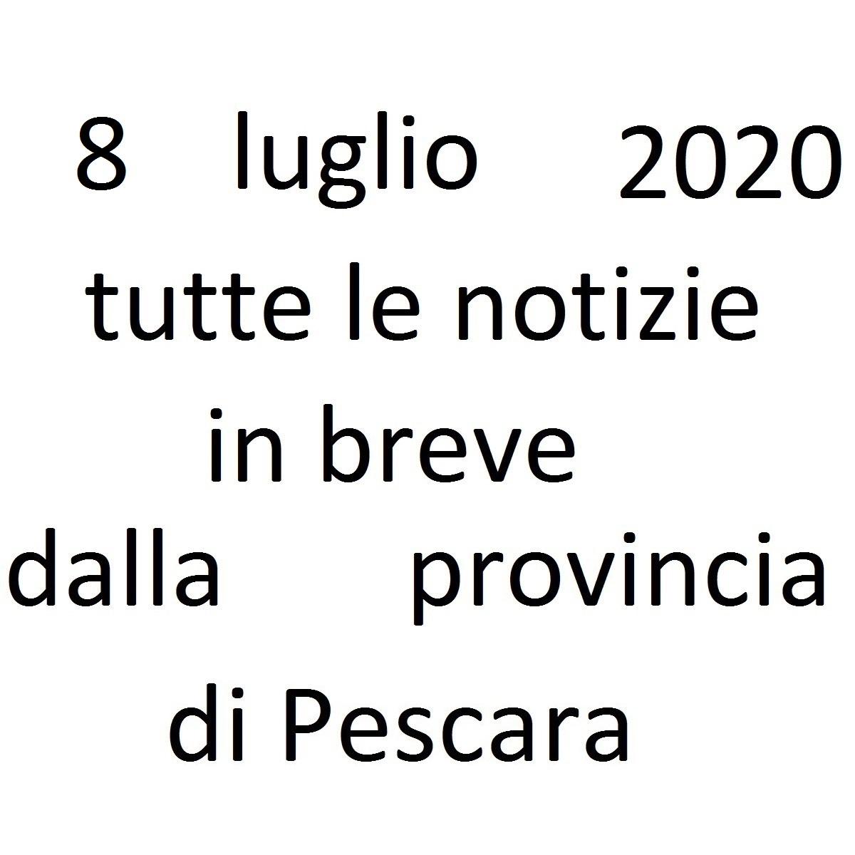 8 luglio 2020 notizie in breve dalla Provincia di Pescara foto