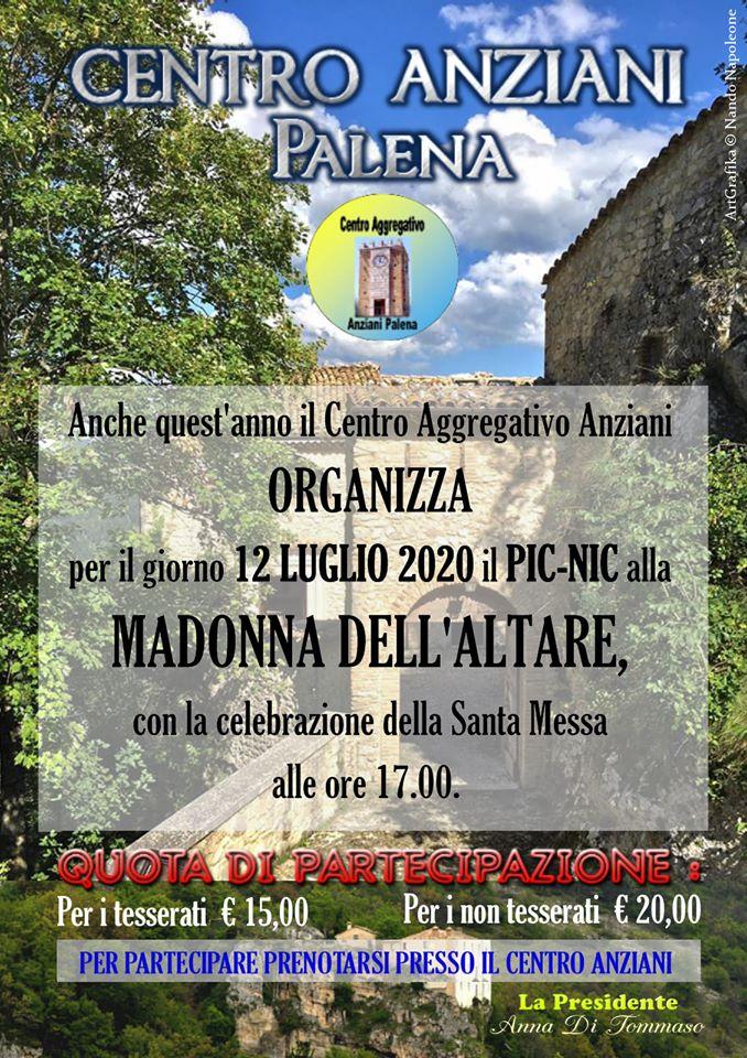Pellegrinaggio Madonna dell'Altare locandina