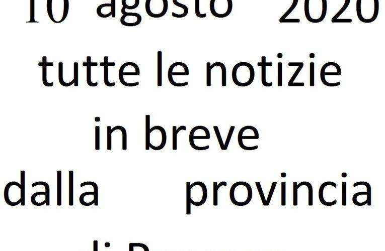 10 agosto 2020 notizie in breve Pescara