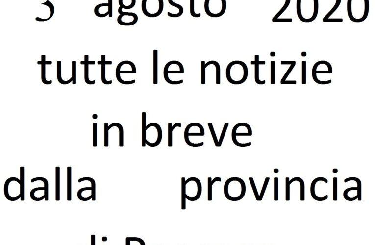 3 agosto 2020 notizie in breve Pescara