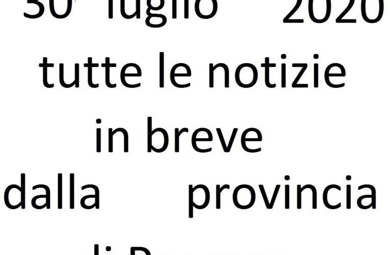 30 luglio 2020 notizie in breve Pescara